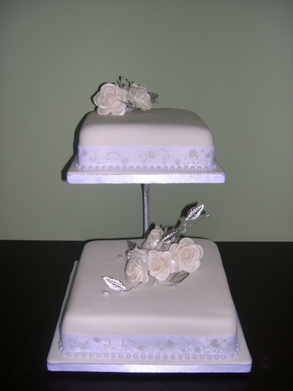 Two Tier Square Cake